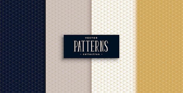 Geometrische muster mit kleinen dreiecken in premiumfarben