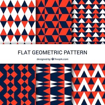 Geometrische muster von dreiecken in drei farben