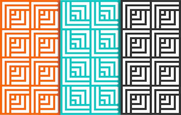Geometrische nahtlose muster