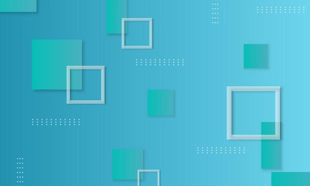 Geometrische rechtecke des blauen farbverlaufs formen den hintergrund. das strukturierte muster für die website.