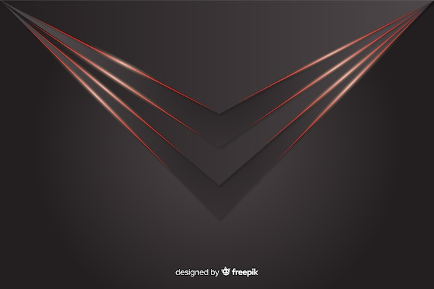 Geometrische rote lichter auf grauem hintergrund