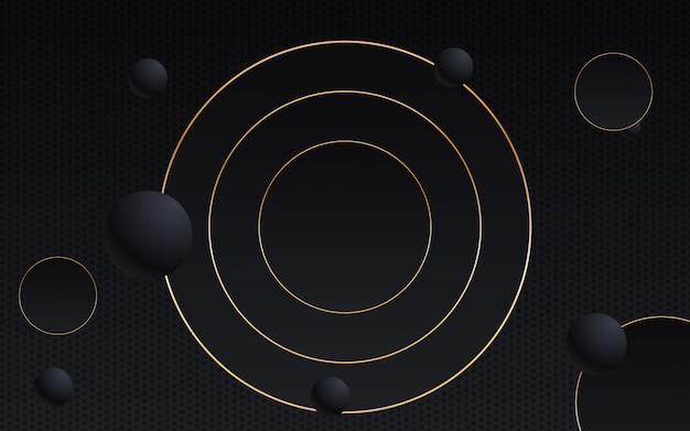 Geometrische schwarze und goldene linie des abstrakten hintergrundes