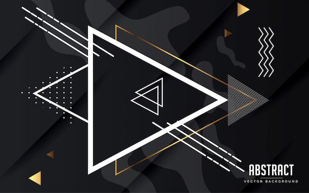 Geometrische schwarze und graue farbe des abstrakten hintergrundes modern