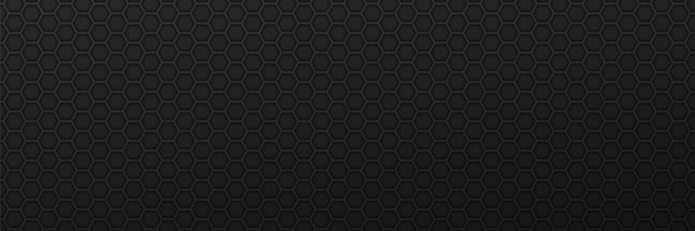 Geometrische sechsecke ornament hintergrund schwarze carbon-zahnräder