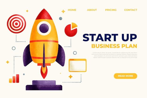 Geometrische start-up-landingpage