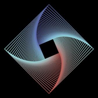 Geometrische strichzeichnungen im strichgrafikstil auf schwarzem hintergrund. technologie-web-hintergrund. grafische verzierung.