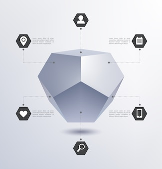 Geometrische struktur 3d isoliert