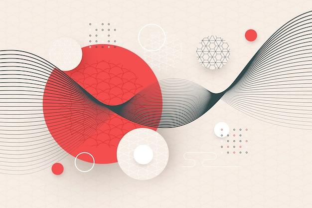 Geometrische tapete im japanischen stil