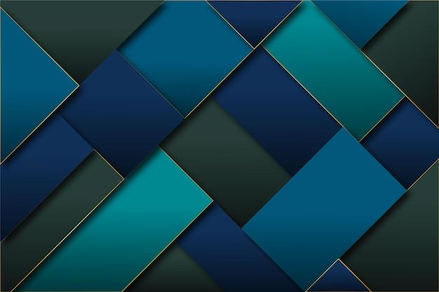Geometrische tapete mit abstraktem farbverlauf