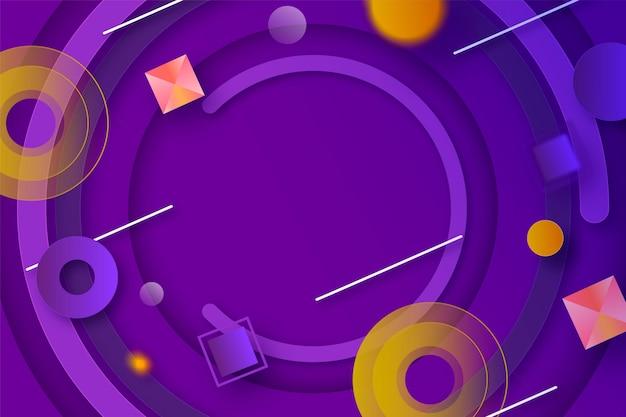 Geometrische tapete mit farbverlauf