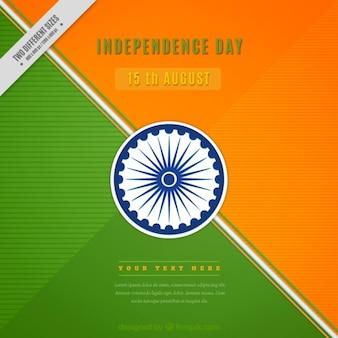 Geometrische unabhängigkeitstag indien hintergrund
