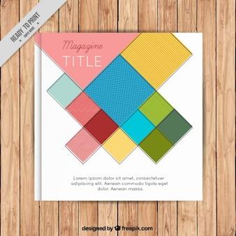 Geometrische und bunte magazin-cover