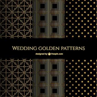 Geometrische und elegante goldenen mustern