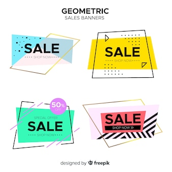 Geometrische verkaufsfahnen