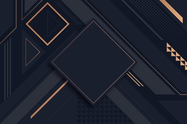 Geometrische verlaufsformen auf dunklem hintergrund