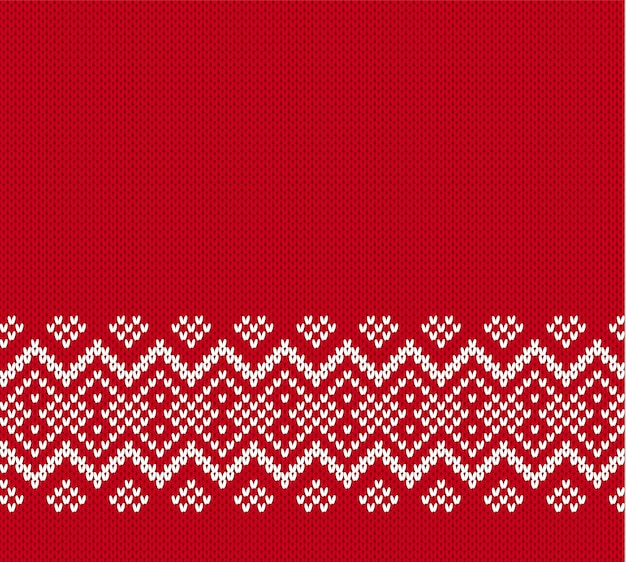 Geometrische verzierung der weihnachtsstrickerei mit leerem platz für text.
