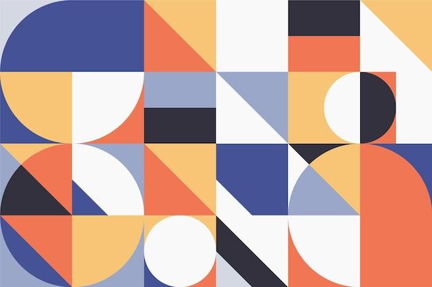 Geometrische wandtapete mit punkten und linien