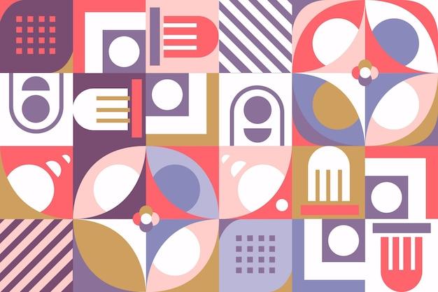 Geometrische wandtapete mit verschiedenen formen