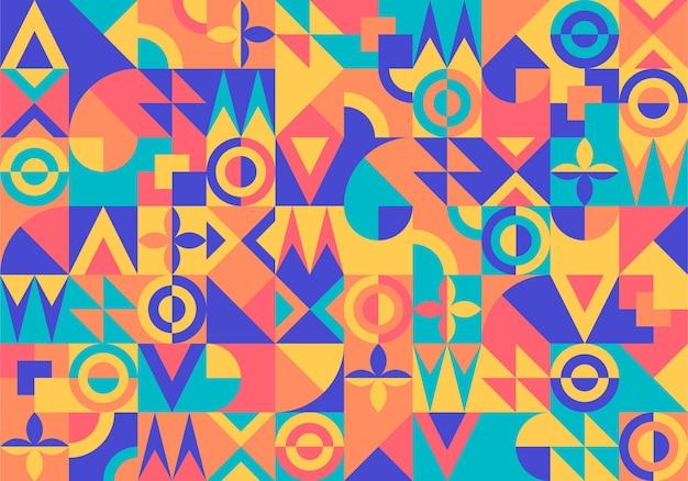 Geometrische wandtapete