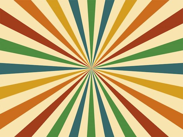 Geometrische weinlesehintergrundillustration der abstrakten 60er jahre der bunten retroart