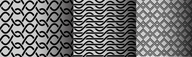 Geometrische wellen modernes einfaches nahtloses muster
