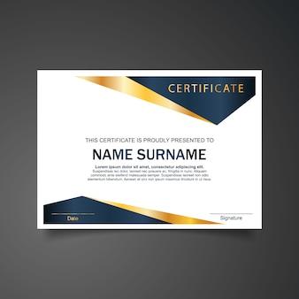Geometrische zertifikatsvorlage