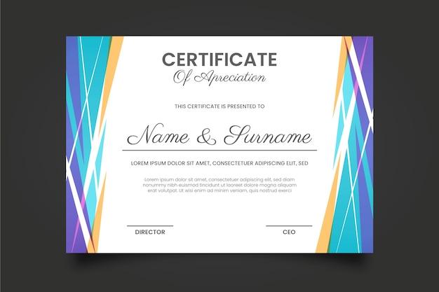 Geometrische zertifikatvorlage