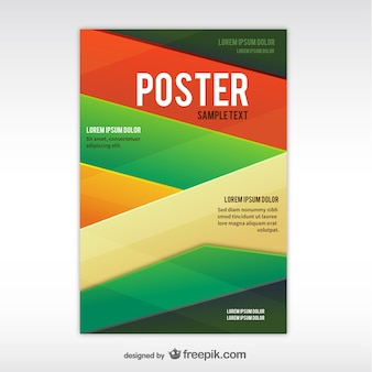 Geometrischen abstrakten plakat vorlage
