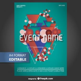 Geometrischen editierbare poster-vorlage