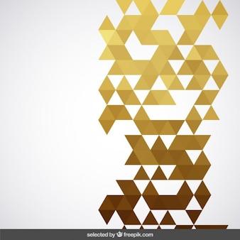 Geometrischen goldenen hintergrund