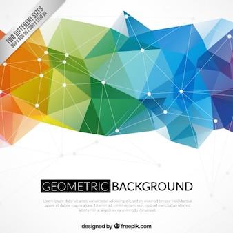 Geometrischen hintergrund in bunten stil