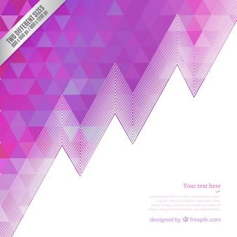 Geometrischen hintergrund in lila tönen