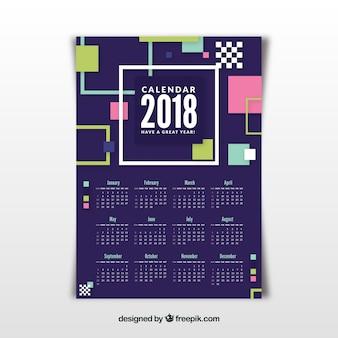 Geometrischer 2018 kalender