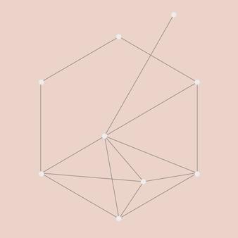 Geometrischer abstrakter elementvektor, technologiekonzept, verbindungspunktdesign