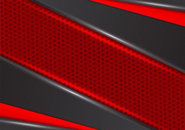 Geometrischer abstrakter hintergrund der roten und schwarzen farbe