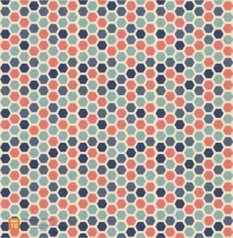 Geometrischer abstrakter hintergrund des bunten musters der hexagonalweinlese im retrostil
