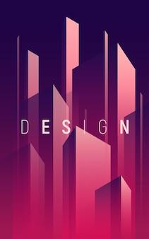 Geometrischer abstrakter hintergrund des farbverlaufs, bunte minimale abdeckung