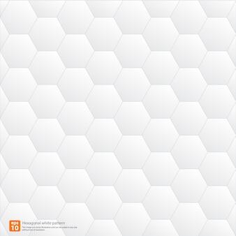 Geometrischer abstrakter hintergrund des hexagonalweißmusters