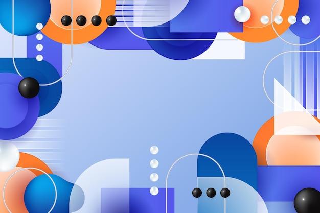 Geometrischer abstrakter hintergrund mit farbverlauf