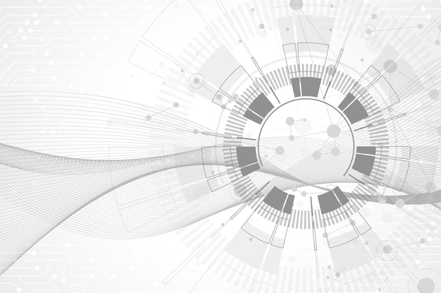 Geometrischer abstrakter hintergrund mit verbundenen linien und punkten. wellenfluss. molekül- und kommunikationshintergrund. grafischer hintergrund für ihr design. vektor-illustration.