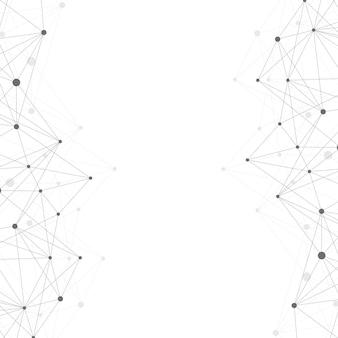 Geometrischer abstrakter hintergrund mit verbundener linie und punkten. grafischer hintergrund für ihr design. vektor-illustration.
