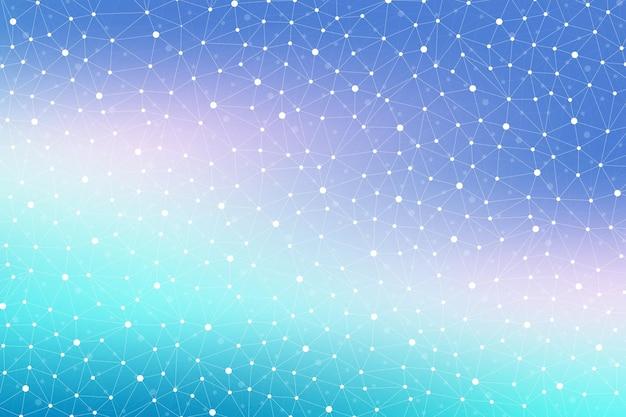 Geometrischer abstrakter hintergrund mit verbundener linie und punkten. moderne, stilvolle polygonale kulisse für ihr design. vektor-illustration.
