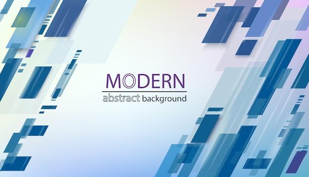 Geometrischer abstrakter hintergrund. transparente blaue linien. modernes muster mit diagonalen linien, minimaler dynamischer abdeckung. blaue plakatplakatschablone.