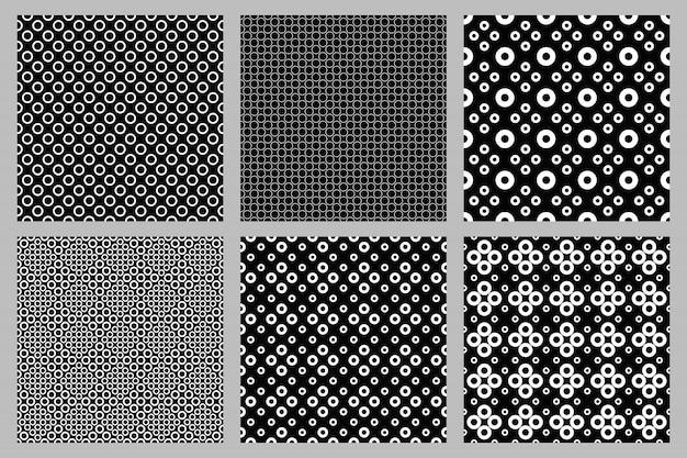 Geometrischer abstrakter nahtloser kreismuster-designsatz