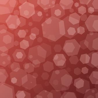 Geometrischer abstrakter techno hintergrund mit hexagonen
