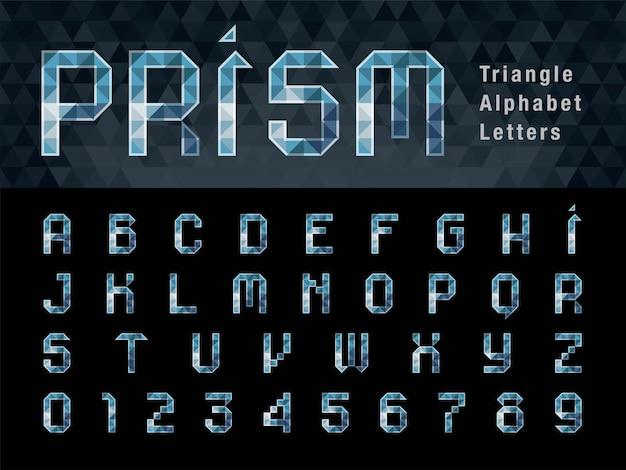 Geometrischer alphabet-buchstabe