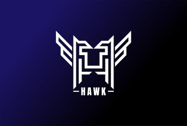 Geometrischer anfangsbuchstabe ht oder hawk tiger logo design vector
