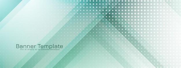 Geometrischer banner-designvektor der modernen weichen grünen farbe