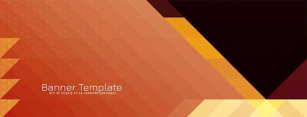 Geometrischer banner-designvektor des modernen dekorativen dreieckigen mosaikmusters