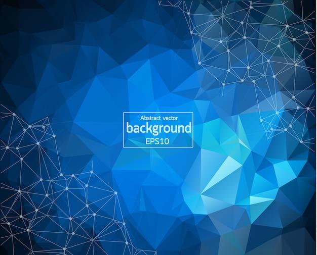 Geometrischer blauer dunkler polygonaler hintergrund